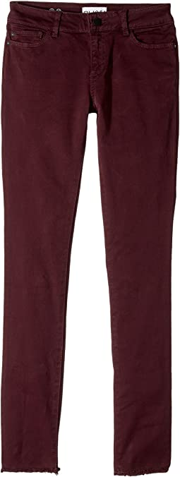 DL1961 Kids - Crimson Sateen Skinny with Raw Hem in Eggplant (Big Kids)