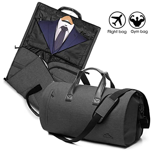 2 In 1 Garment Bag With Shoulder Strap, Convertible Suit Travel Duffel Bag Carry On