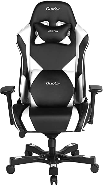 Clutch Chairz Throttle Series Echo Premium Gaming Chair White