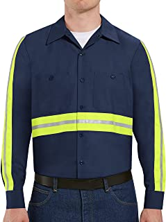 Red Kap Men's Industrial 2 Piece Lined Collar Work Shirt