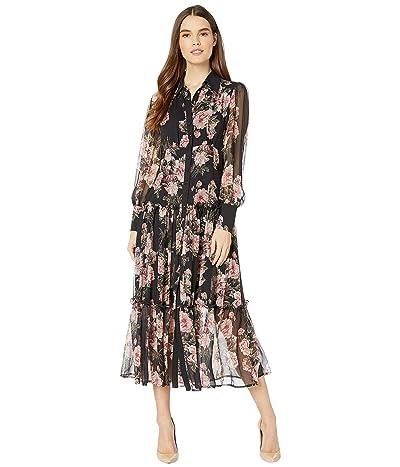 Bardot Floral Dress (Navy Floral) Women