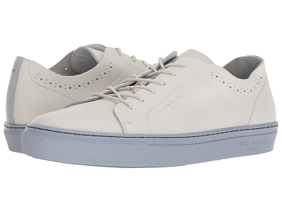 Ted Baker Uurll (White/Light Blue Leather) Men