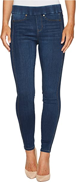 Sophia Pull-On Ankle with Seaming Detail in Silky Soft Stretch Denim in Helms Dark