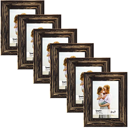 2059bd42ad86 Langdons 5x7 Real Wood Picture Frames (6 Pack