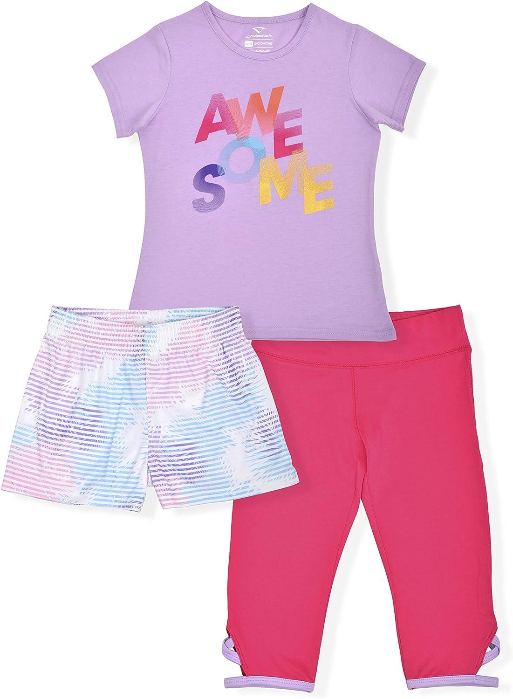 Cheetah Girls 4 Piece Set Tee Shirt and 2 Pairs of Shorts Tank Top