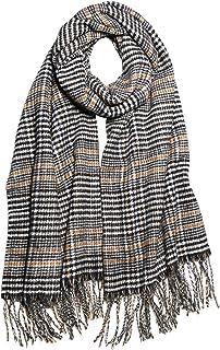 SOJOS Winter Warm Tartan Plaid Houndstooth Checked Scarf Soft Classic Cashmere Feel Shawls Wraps SC337