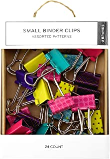 U Brands Pop Binder Clips, Small, Assorted Colors, 24-Count (765A06-24)