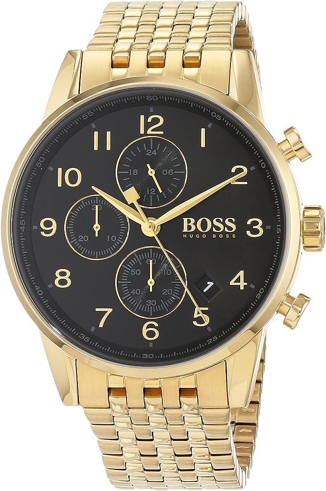 Hugo boss ,orologio cronografo per uomo, in acciaio inossidabile 1513531
