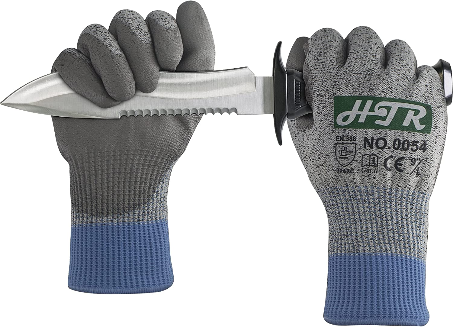 HTR Cut OFFicial shop Resistant Safety Work Gloves with Max 73% OFF Palm PU Anti Coated