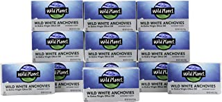 Wild Planet Wild White Anchovies in Extra Virgin Olive Oil, 3rd Party Mercury Tested, 4.4..