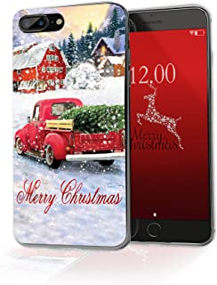 cocomong Christmas Phone Case Compatible with iPhone 8 Plus Christmas Case iPhone 7 Plus, Gifts for Girls Men Women, Protective Slim Clear Soft TPU Cover Shockproof Anti-Scratch 5.5