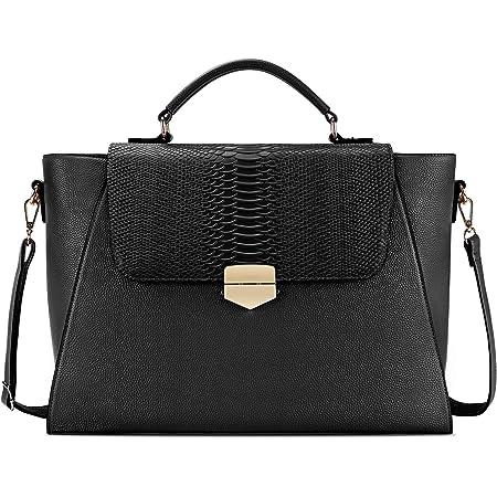 Briefcase for Women 15.6 Laptop Bag Business Messenger Bag Work Tote Bag Professional Shoulder Purse with Padded Compartment for Tablet Notebook Ultrabook Black