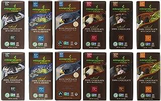 Endangered Species Chocolate Variety Pack (Pack of 12) ........(Dark with Blueberry, Dark Chocolate with Blackberry Sage, Grizzly Dark Raspberry, Chimpanzee Dark Chocolate, Panther Extreme Dark Chocolate, Bat Dark intense)