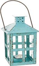 Kate Aspen 14130BL Vintage Distressed Lantern, Medium, Blue