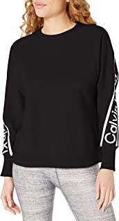Women's Oversize Cropped Pullover Sweatshirt with Logo...