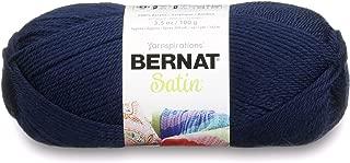 Bernat Satin Solid Yarn (4) Medium Worsted Gauge 100% Acrylic - 3.5oz -     Admiral   -  Machine Wash & Dry (1641044110)