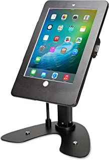 CTA Digital: Dual Security Kiosk Stand with Locking Case & Cable for iPad 2017/2018/iPad Air (Gen. 1-2)/iPad Pro 9.7, Blac...