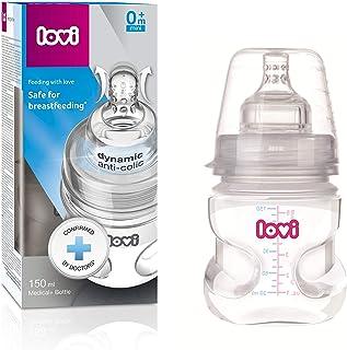 LOVI Medical+ bottle (BPA free) 150 ml with Supervent Dynamic Teat 0m+