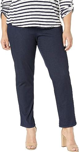 Plus Nina Solid Denim Jeans in Indigo