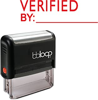 Verified with by LINE - Self-Inking Rubber Stamp by bbloop