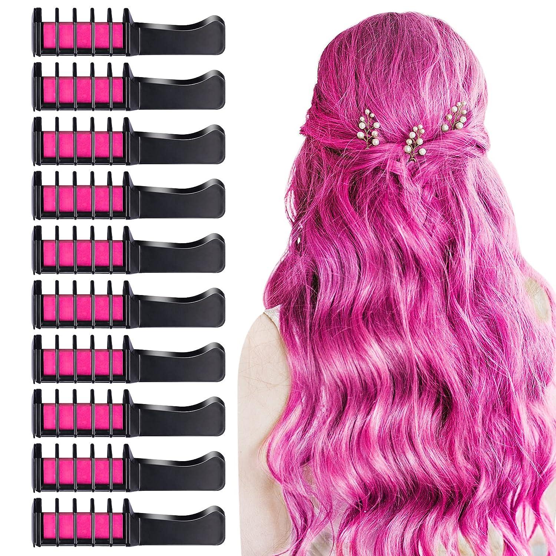 10 PCS Hair NEW before selling Chalk Comb TOROKOM Temporary Washable Bright Max 84% OFF C