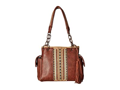 M&F Western Laney Satchel (Brown) Satchel Handbags