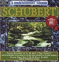 Schubert: Trout Quintet & Piano Trio No 1 / Various