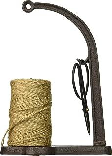 Abbott Collection Cast Iron Twine/String Spool Holder with Scissors, Dark Brown