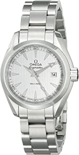 Omega Women's 23110306002001 Analog Display Swiss Quartz Silver Watch
