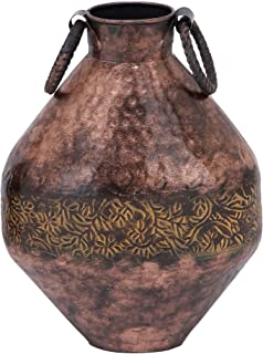 Deco 79 26990 金属花花瓶,25.4cm x 33.02cm