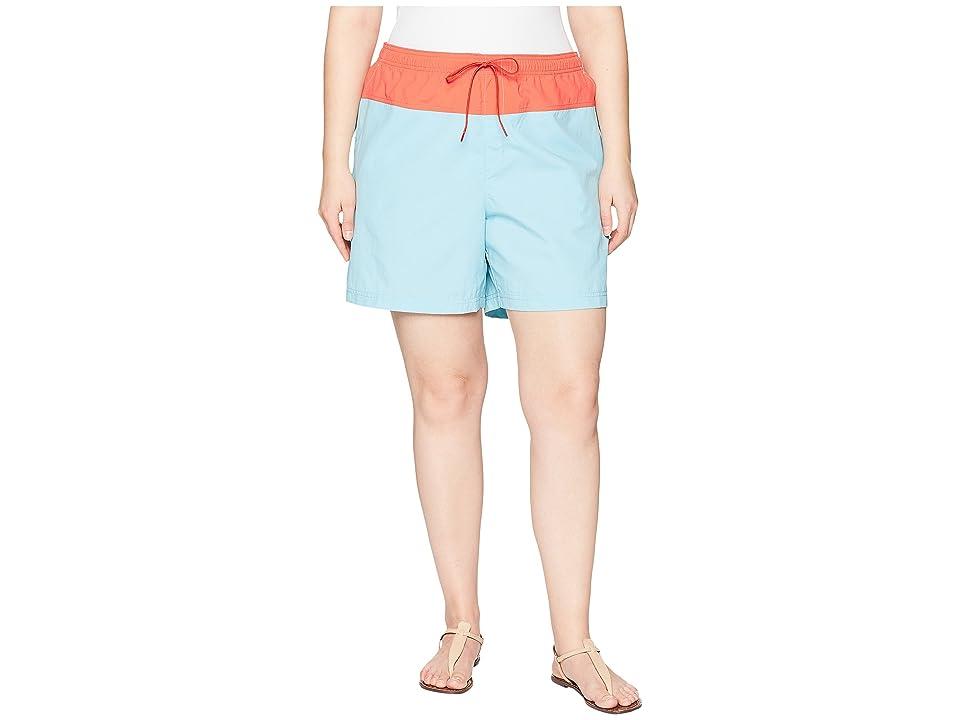Columbia Plus Size Sandy Rivertm Color Blocked Shorts (Iceberg/Zing) Women