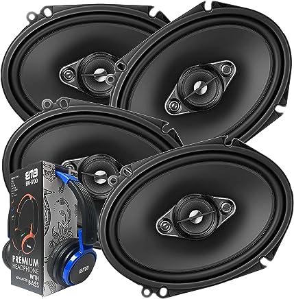 $103 Get 2 Pairs of Pioneer 5x7/ 6x8 Inch 4-Way 350 Watt Car Audio Speakers | TS-A6880F (4 Speakers) + Free EMB Premium Headphone