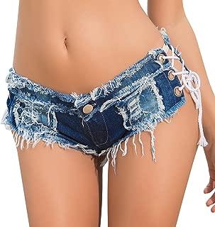 Womens Denim Shorts Sexy Low Rise Cheeky Mini Micro Jean Hot Pants