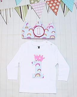 Set arcobaleno per il primo compleanno della bambina compleanno set bambina regalo