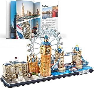 CubicFun London Skyline Building Model Kits Puzzle Craft Toys Gift,107 Pieces MC253h
