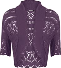 Women's Crochet Knitted Short Sleeve Bolero