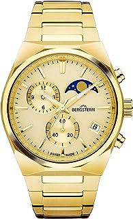 Bergstern - Reloj Bergstern para Hombre con Correa Dorado y Pantalla en Dorado B049G235
