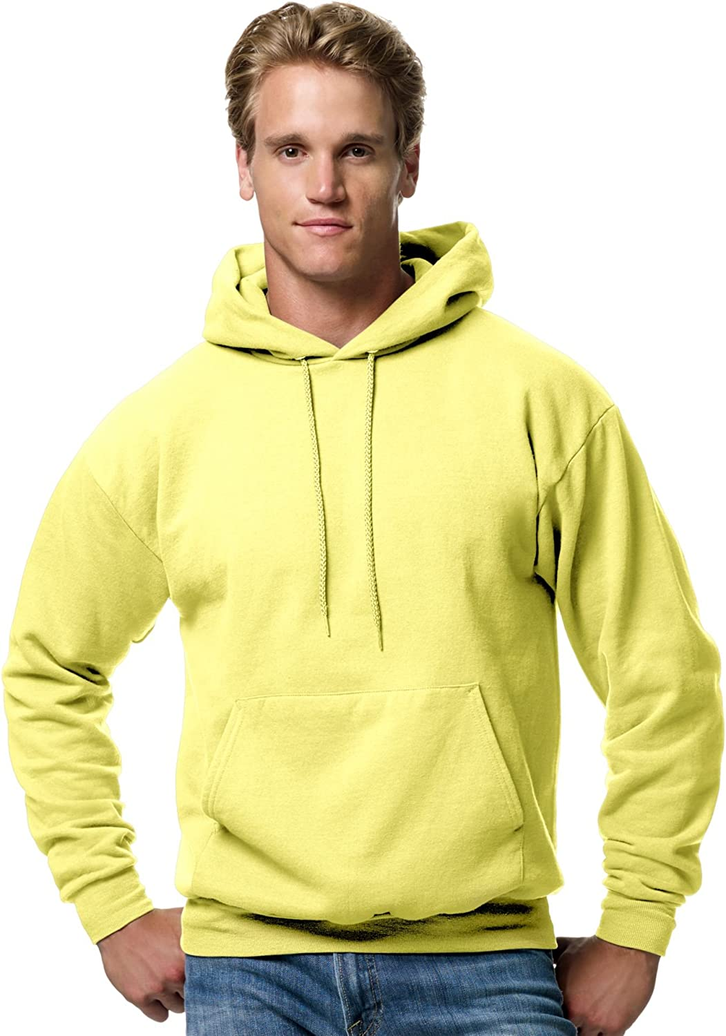 90s Outfits for Guys | Trendy, Party, Cool, Casaul Hanes Mens Pullover EcoSmart Hooded Sweatshirt  AT vintagedancer.com