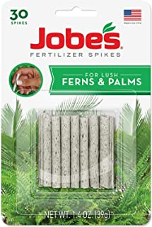 Jobe's 05101 Fern & Palm Fertilizer Spikes, 30 per Blister Pack