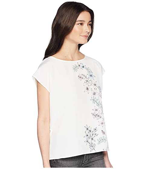 Camuto Floral Vince Specialty Botanical Shoulder Petite Extend Size Blouse Print RdaAq