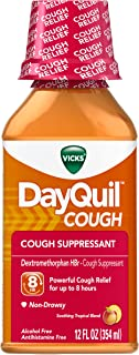 Vicks Dayquil Cough Citrus Blend Flavor Liquid 12 Fl Oz