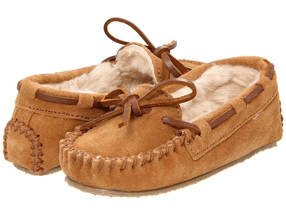 Minnetonka Kids Cassie Slipper (Toddler/Little Kid/Big Kid) (Cinnamon Suede) Girls Shoes