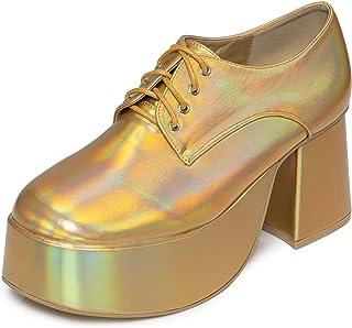 Mens Womens Platform Disco Saturday Night Fever John Travolta Fancy Dress Shoes