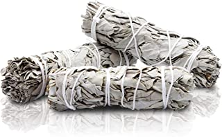 JL Local White Sage Smudge Sticks - Bundles of 100% California Sage - Incense, Smudging & Cleansing (3 Pack No Bracelet)