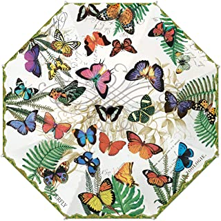 umbrella with butterfly design