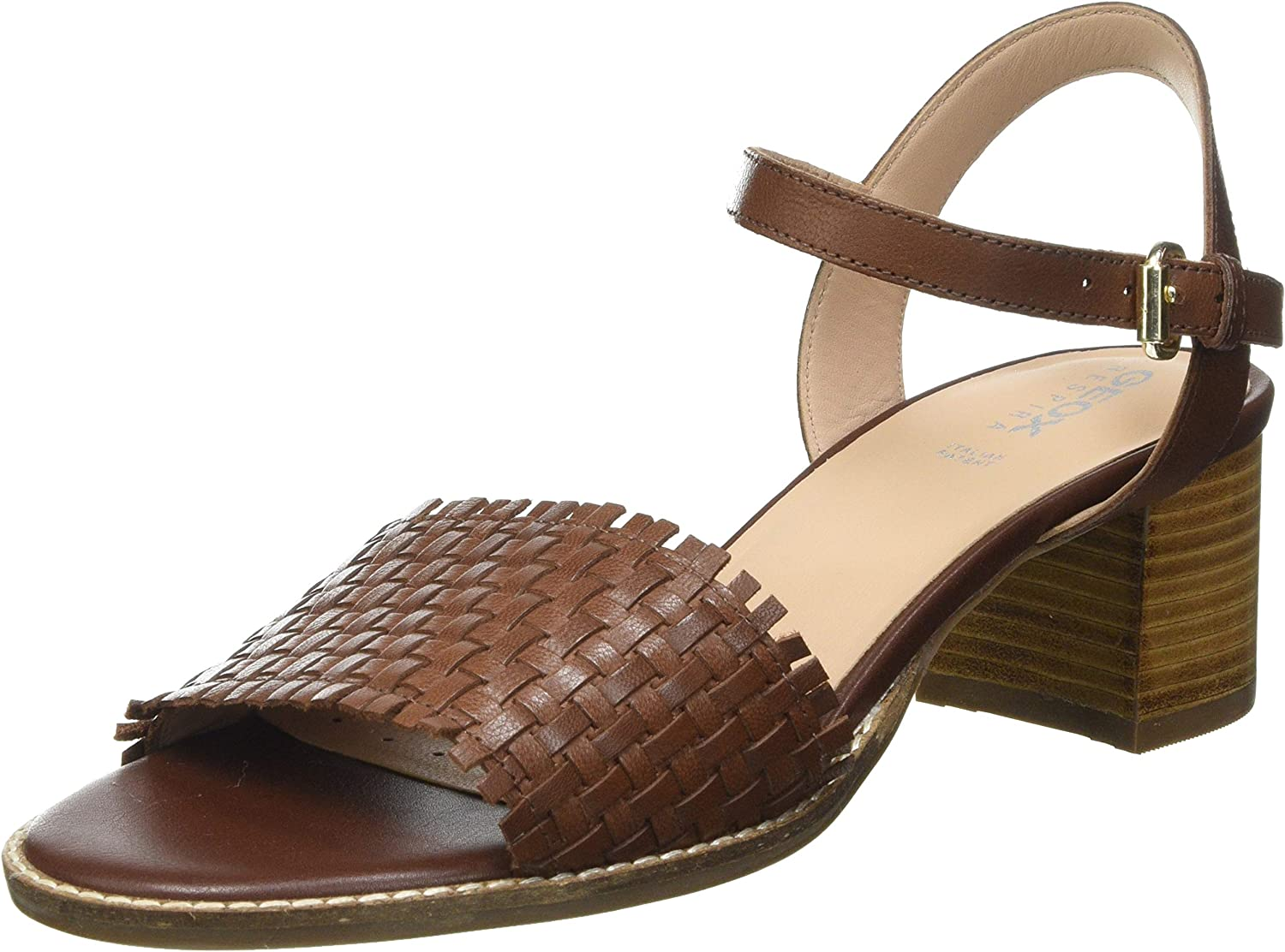 All stores are sold Geox womens Ankle-Strap Heeled overseas US 8 Sandal BROWN