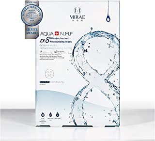 MIRAE Beauty 8 Minutes Hydrating Facial Sheet Mask - Hypoallergenic Essence for Intense Hydration, Dry/Combination Skin Locks in Moisture, Tightens and Provides a Dewy Skin Glow
