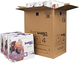 Bambo Nature Eco Friendly Premium Baby Diapers for Sensitive Skin, Size 4 (15-40 lbs),..