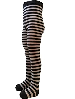 VEGATEKSA Baby und Kinderstrumpfhose für Mädchen und Jungen mit Streifen in Grau/Dunkelgrau aus Gekämmter Baumwolle, MADE IN EU, Verstellbare Taille, Tunel Gummi