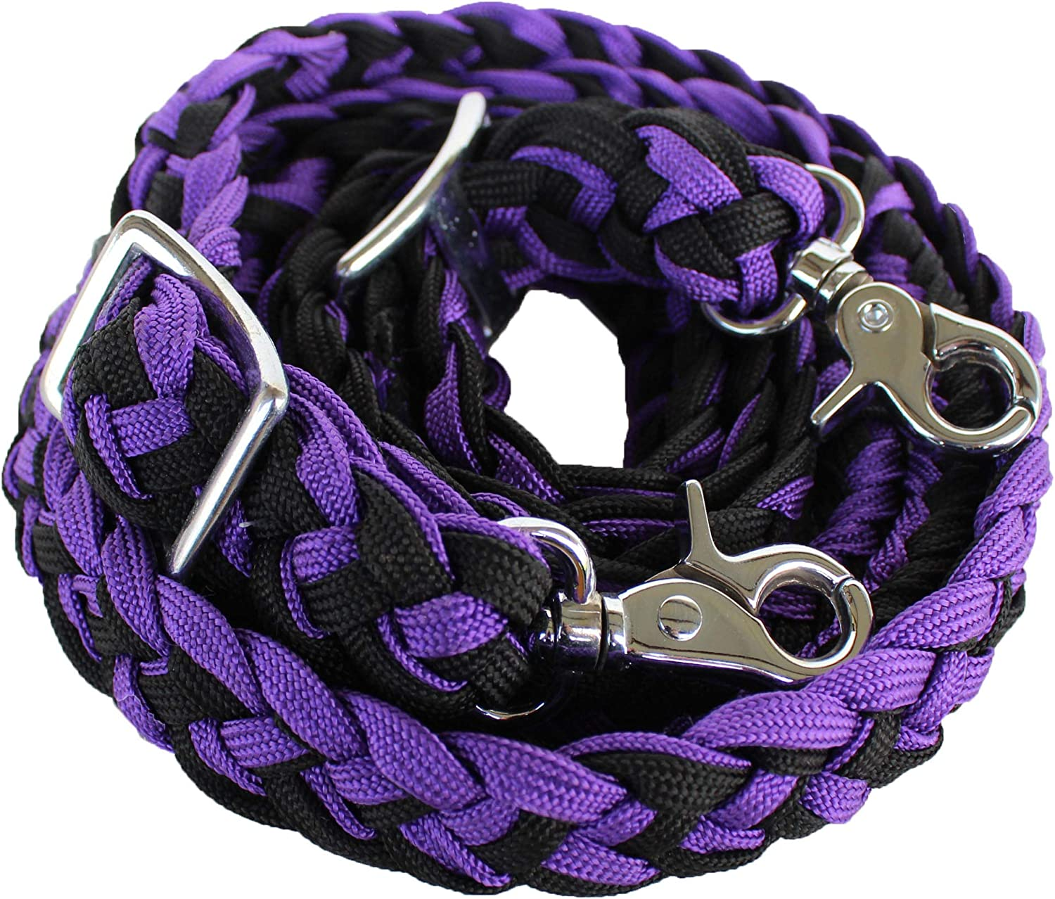 CHALLENGER Roping Knotted Horse Tack Barrel Nylon Direct sale of manufacturer Max 90% OFF Reins Western